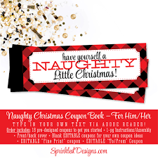 christmas naughty coupon book christmas gifts for him