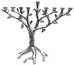menorah tree of israel book shop contemporary aluminum tree of chanukah menorah