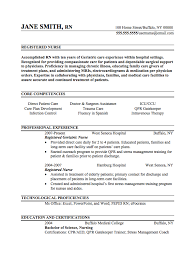 registered nurse resume sample internships com