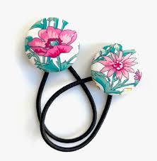 hair elastics liberty of london hair elastics set large covered button