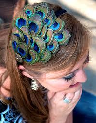 peacock headband items similar to eleanor comfortable peacock feather headband