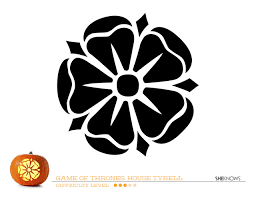 game of thrones house of tyrell pumpkin carving template free