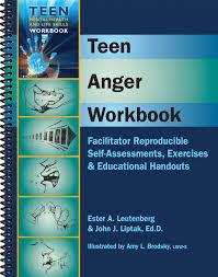 teen anger workbook anger management worksheets for teens
