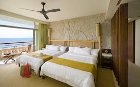 modern bedroom color schemes with minimalist wooden master bed and