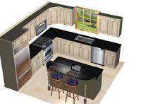 Island Kitchen Designs Layouts 10 X 8 Kitchen Layout Google Search Similar Layout With Island