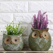 decoration enchanting handmade ceramic planter large geometric