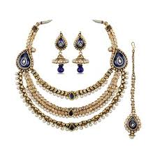 antique necklace set images Gold antique necklace set ladies rings priyanka jewellers png