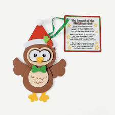 christmas owl ornament with poem craft kit orientaltrading com