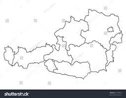 Map Austria Map Austria Vector Illustration Stock Vektorgrafik 19758256