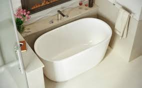 4ft Bathtubs Aquatica Lullaby Nano Wht Small Freestanding Solid Surface Bathtub