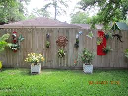 backyard fence decor home outdoor decoration