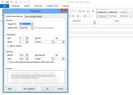 how to change the default microsoft outlook email template