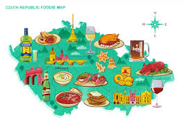 illustration cuisine foodie map where to find food in prague