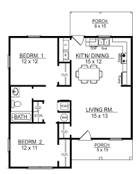 two bedroom cabin plans floor plan cottage porches covered kerala porch elderly plan