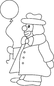 circus clown face coloring sheet thingkid clip art library