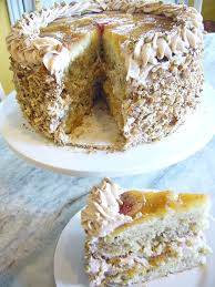 pineapple upside down layer cake with white chocolate cinnamon
