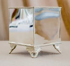 Small Square Vases Décor Hire Category Vases And Pots Image Silver Square Vase