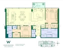 St Regis Residences Floor Plan Live The W Lifestyle For Under 600 000 Atlantaskyriseblog Com