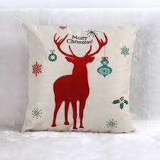 christmas theme cushion cover santa claus sofa bed home decor soft