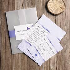 Pocket Wedding Invites Purple Heart Pocket Wedding Invitation Iwgy044 Wedding