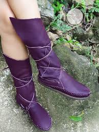womens boots purple stitched purple leather moccasins moccasin boots womens