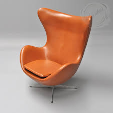 modern interior design egg fritz hansen leather chair
