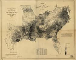 United States Map By Population by Abraham Lincoln The President Used This Map To See Where Slavery