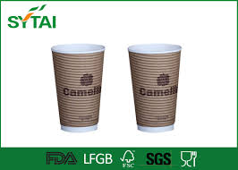 take away eco friendly disposable coffee cups printed 12 oz