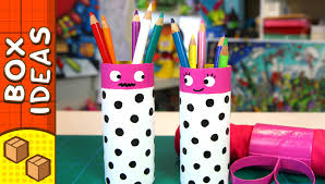diy gift box pencil couple craft ideas for kids on box