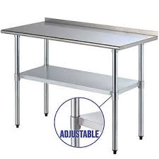 X  Stainless Steel Work Prep Table Kitchen - Kitchen prep table stainless steel