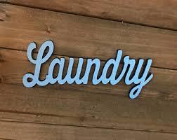 laundry wall words etsy