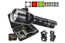 best green light for hog hunting cr6 rechargeable hunting flashlight w red white green beams
