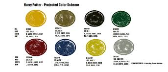 harry potter color scheme test kitchen