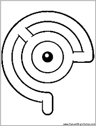 pokemon unown c coloring page alphabet c pinterest