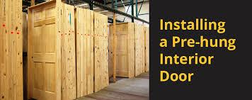 Prehung Interior Door Installation Installing A Pre Hung Interior Door Builders Surplus
