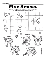 the five senses theme unit printables and worksheets