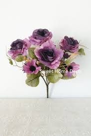 sweet home deco 12 u0027 u0027t silk open rose artificial flower bush