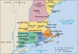 Plymouth Massachusetts Map by New England Colonization