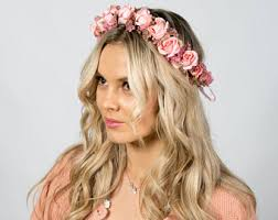 flower headpiece floral headpiece etsy