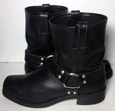black leather moto boots frye 87400 harness black leather motorcycle boots men u0027s size 13