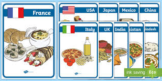 foods around the world display posters foods around world