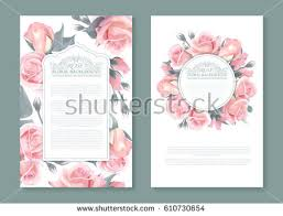 botanical wrapping paper vector botanical banners pink roses vertical stock vector