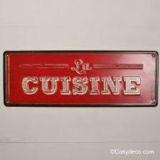 plaque d馗orative cuisine plaque métal déco cuisine style rétro vintage en vente chez cosydéco