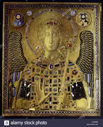 fine arts middle ages byzantine art painting icon archangel