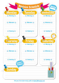 blank revision timetable template classroom pinterest