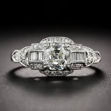 deco engagement ring 92 carat platinum and diamond late deco engagement ring