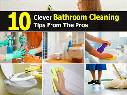 10 clever bathroom cleaning tips from the pros