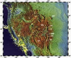 Rocky Mountain States Map The Rocky Mountain System The Rocky Mountain System Political