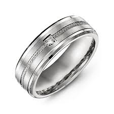 man rings design images Rope design men 39 s ring with stone and beveled edges jpg