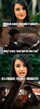 Rebecca Black Meme - rebecca black vs pulp fiction funny pictures quotes pics